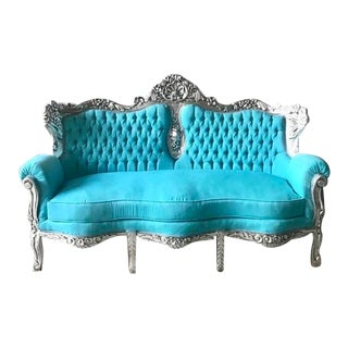 1950s Vintage Baroque Style Sofa For Sale