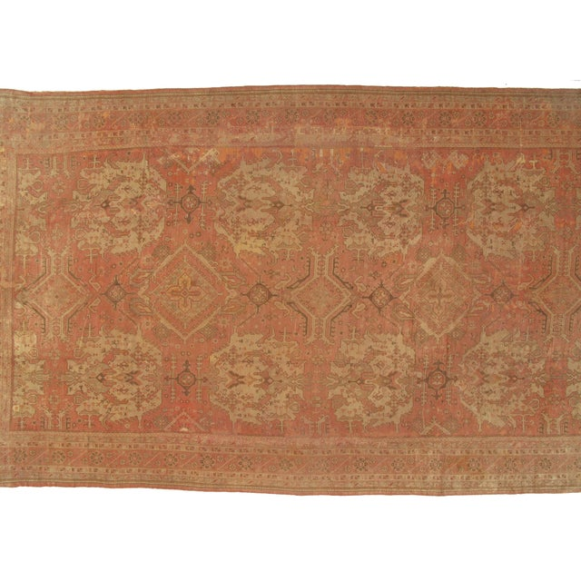 """Pasargad DC Antique Turkish Oushak Hand-Knotted Rug - 14'8"""" X 26'3"""" For Sale - Image 4 of 5"""