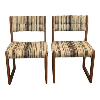 1970s Vintage Lou Hodges for California Design Group Chairs- A Pair For Sale