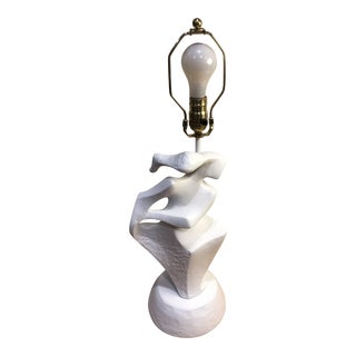 Plaster Abstract Feminine Figure Lamp For Sale