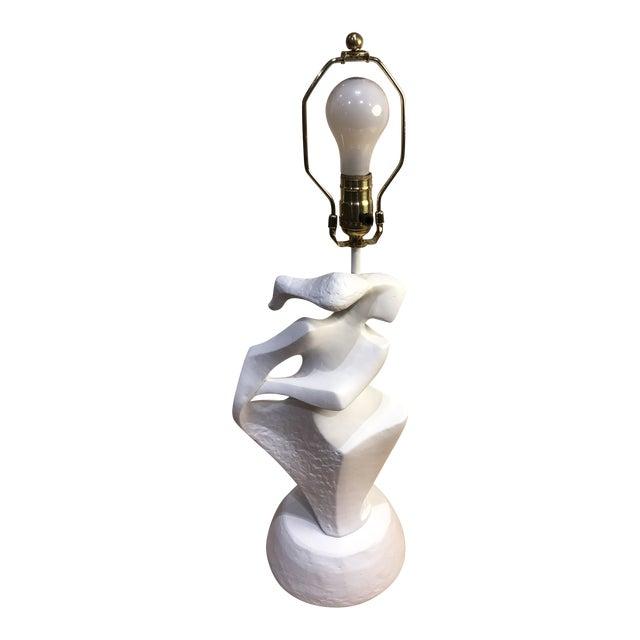 Plaster Abstract Feminine Figure Lamp For Sale