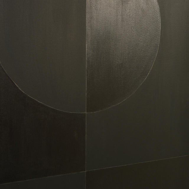 Stephen Hansrote Eclipse Double Black Painting by Stephen Hansrote For Sale - Image 4 of 6