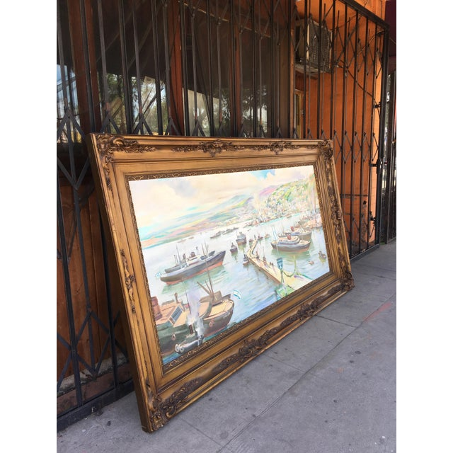 Vintage Victorian Picture Frame Painting For Sale - Image 4 of 13