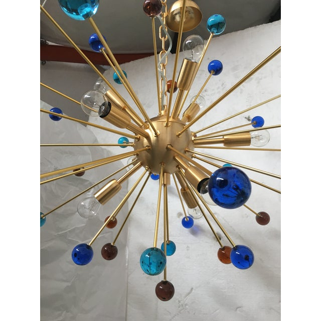 2010s Contemporary Murano Glass Triedo Sputnik Chandelier For Sale - Image 5 of 13