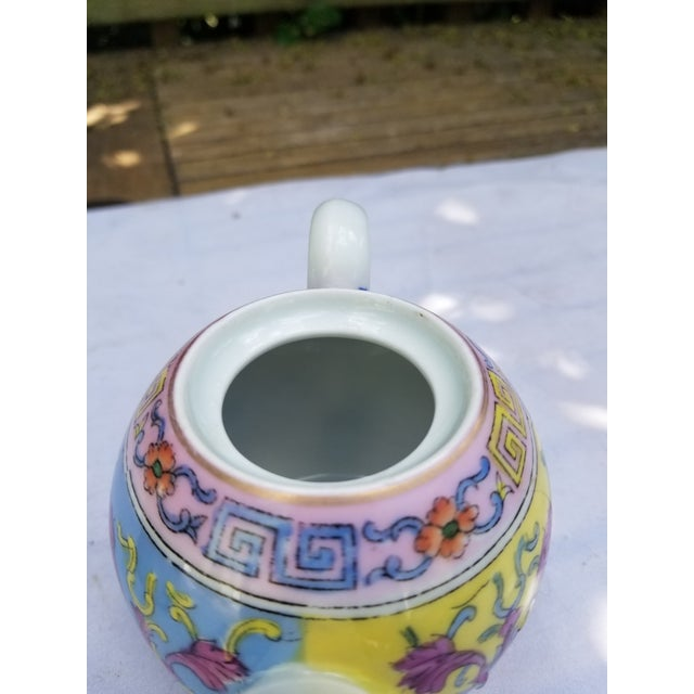 Late 19th Century Antique Pastel Russian Teapot for One For Sale - Image 5 of 7