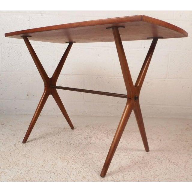 Mid-Century Modern Teak End Table - Image 2 of 11