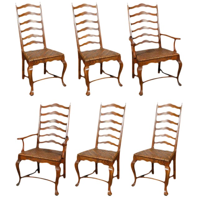 Ladder Back Dining Chairs - Set of 6 - Image 1 of 9