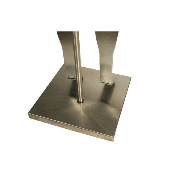 Custom-Made Brushed Aluminum Adjustable Mannequin - Image 4 of 4