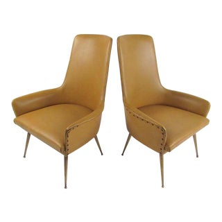 Pair of Italian Modern Side Chairs, Circa 1950s For Sale