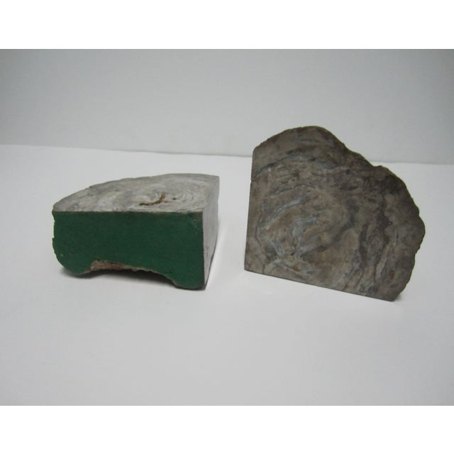 Vintage Gray Geode Bookends - A Pair - Image 5 of 7
