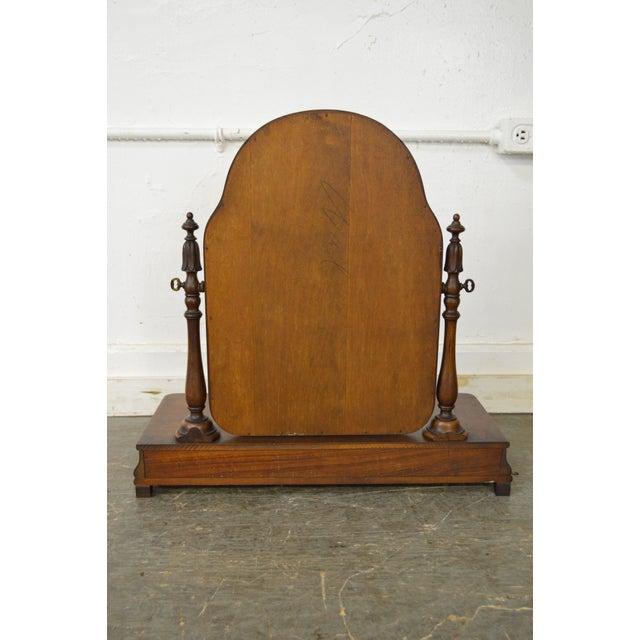 Antique Victorian Walnut 2 Drawer Shaving Mirror - Image 4 of 11
