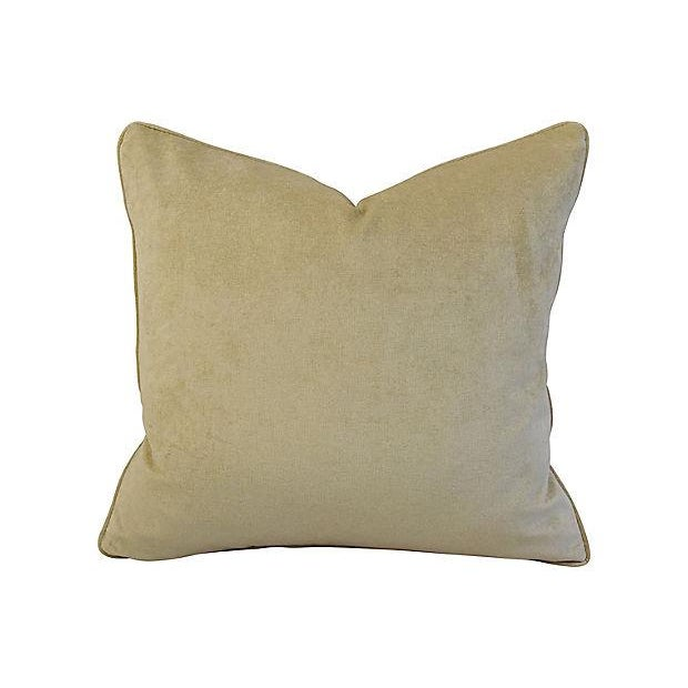 "24"" X 22"" Custom Tailored Italian Mariano Fortuny Glicine Feather/Down Pillow For Sale - Image 5 of 9"