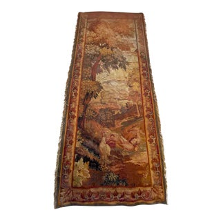 19th Century Scenic French Tapestry For Sale