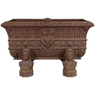 19th Century, French Cast Iron Planter For Sale