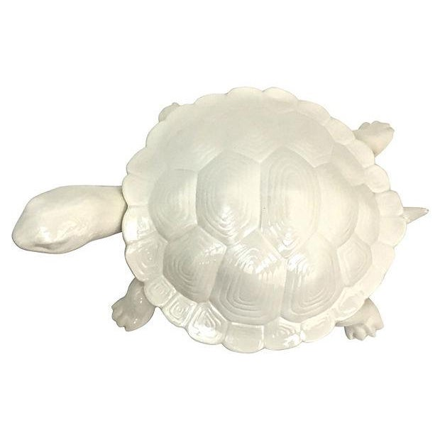 Hand-Cast Ceramic Turtle Bowl With Shell Lid - Image 7 of 9