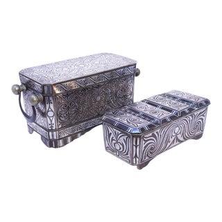 Antique Deluxe Betel Nut Box Set, Mindanao - 2 Pieces For Sale