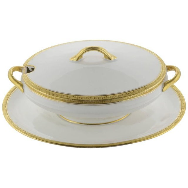 Limoges Cover Sauce Bowl With Platter - Image 10 of 10