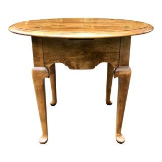 Ethan Allen Heirloom Nutmeg Round Lamp Table For Sale