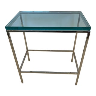 Modern Chrome End or Martini Table For Sale