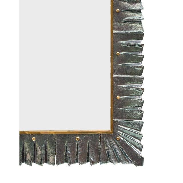 Aqua Murano Glass Aqua Mirrors For Sale - Image 8 of 10