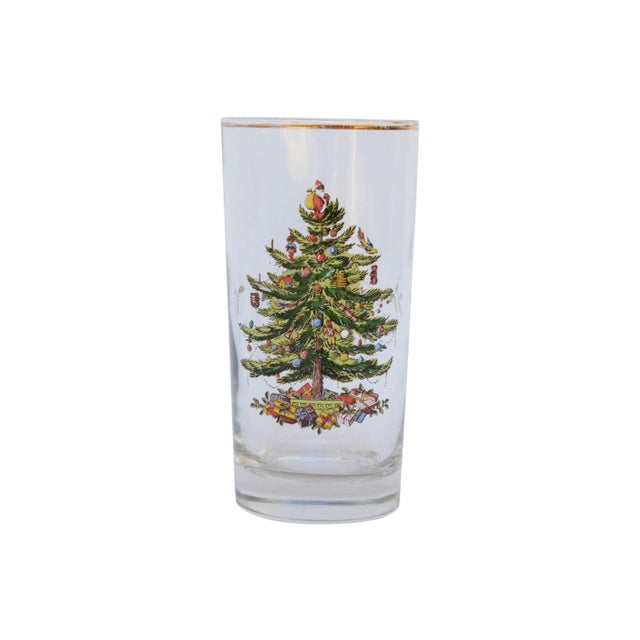 Boho Chic Vintage Christmas Tree Glasses - Set of 6 For Sale - Image 3 of 6