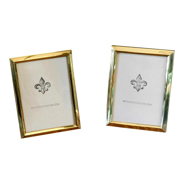 1980s Traditional Brass 5x7 Frames - a Pair For Sale