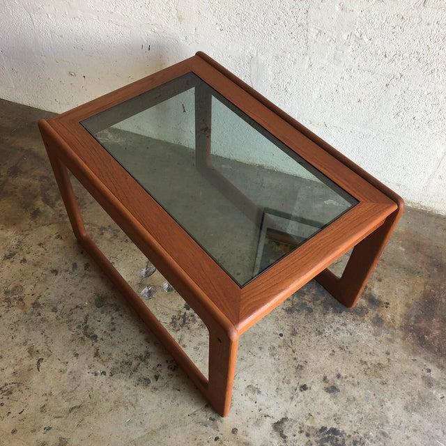 Komfort Vintage Mid Century Modern Danish Side Table by Komfort Furniture For Sale - Image 4 of 11