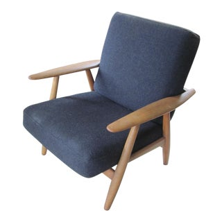 Vintage Teak Chair - Hans Wegner - Getama Ge-240 Original Finish &Fabric For Sale