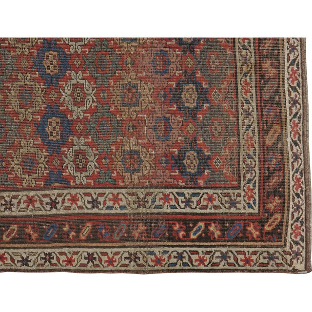 """Antique Persian Distressed Rug - 3'10"""" X 6'6"""" - Image 3 of 4"""