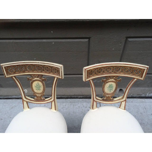 Pair of 19th Century Italian Neoclassical Side Chairs For Sale In New York - Image 6 of 9