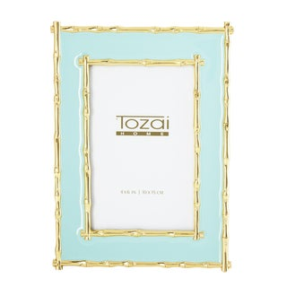 Tozai Home Bamboo & Seafoam Enamel Picture Frame For Sale