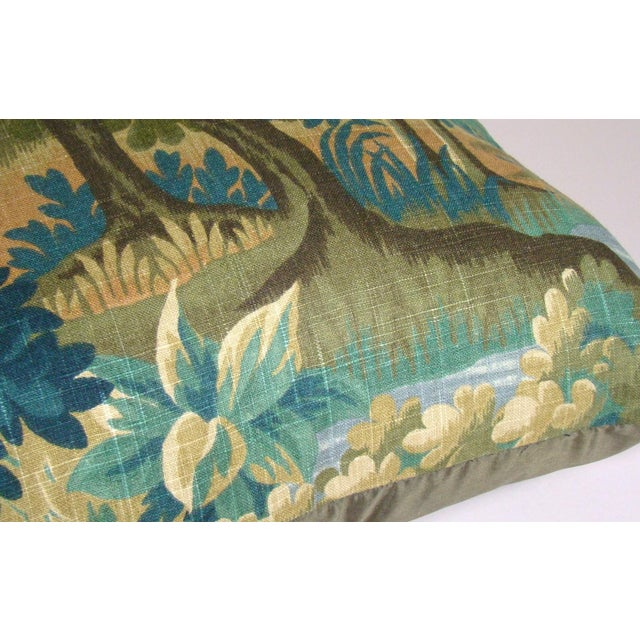 Verdure Print Linen Large Pillow Cover For Sale In Milwaukee - Image 6 of 10