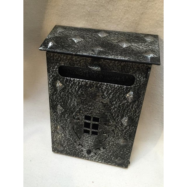 New Tudor Black/Pewter Metal Mailbox For Sale - Image 4 of 8