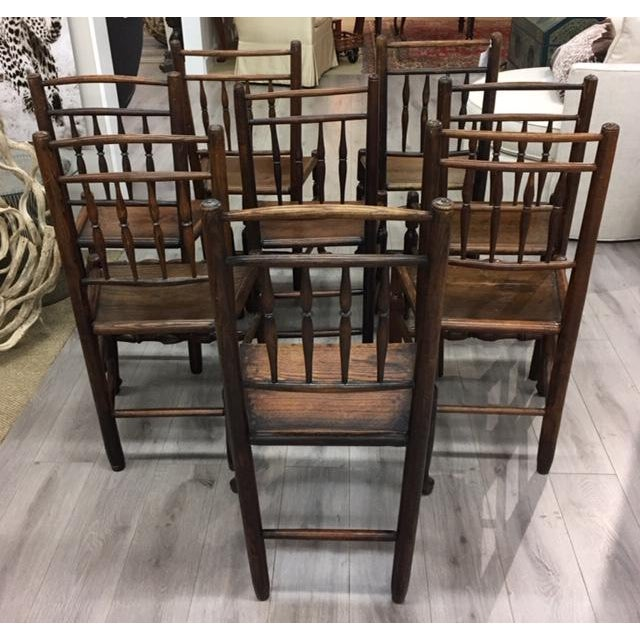 Oak Side Chairs- Set of Eight For Sale - Image 4 of 7