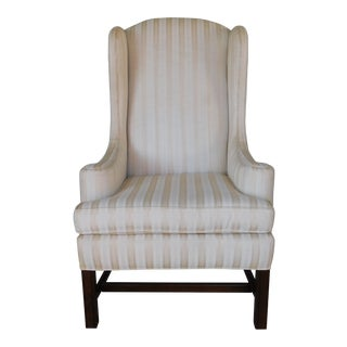 Ethan Allen Traditional Classics Chippendale Style Wing Back Arm Chair For Sale