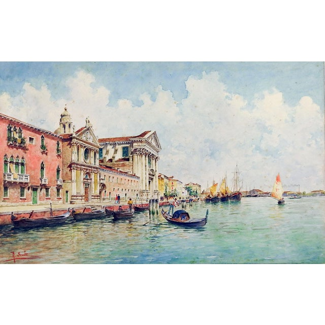 1900 - 1909 Venice Watercolor Painting by Rafael Senet For Sale - Image 5 of 5