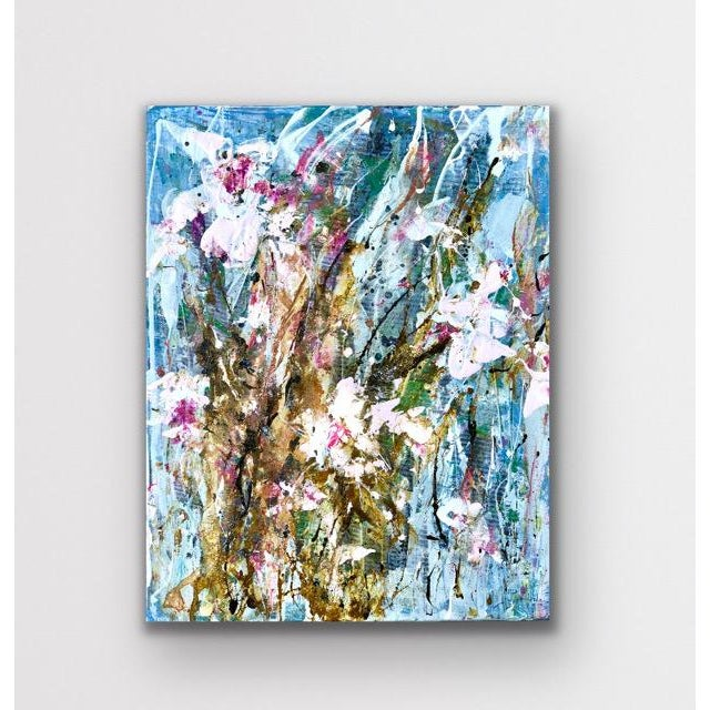 Abstract 'Tulip Party 1' Mixed Medium Painting For Sale - Image 3 of 3