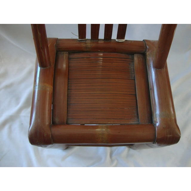 Primitive Bamboo Chairs- A Pair - Image 5 of 8
