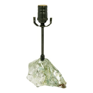 Organic Modern Cool Toned Cullet Glass Crystal Lamp For Sale