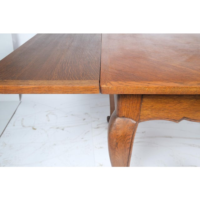Louis Philippe-Style Square Parque Extendable Table For Sale - Image 11 of 12
