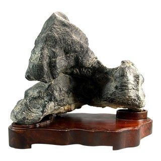 Vintage Chinese Scholar's Rock Lingbi Spiritual Stone For Sale
