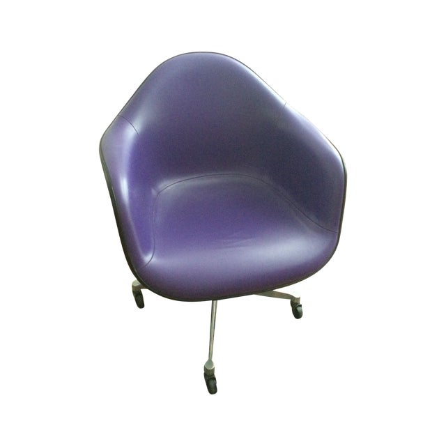 Eames Herman Miller Purple Armshell Chair - Image 1 of 5