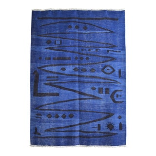 Paul Klee - Heroic Strokes of the Bow - Inspired Silk Hand Woven Area - Wall Rug 4′3″ × 6′1″ For Sale