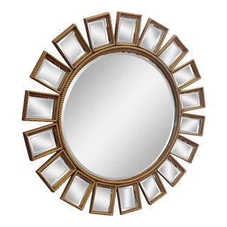 Mid-Century Modern LaBarge Starburst Mirror For Sale