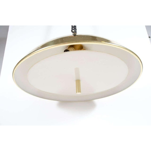 Finlandia Brass Counter-Weight Pendant after Paavo Tynell for Litecraft Mfg Corp For Sale - Image 9 of 9