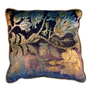 Flowers 10 Silk Velvet Pillow Cover For Sale