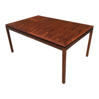 Modern Minimalist Walnut Floating Top Dining Table For Sale