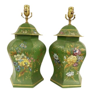 Chines Export Tole Lamps - A Pair