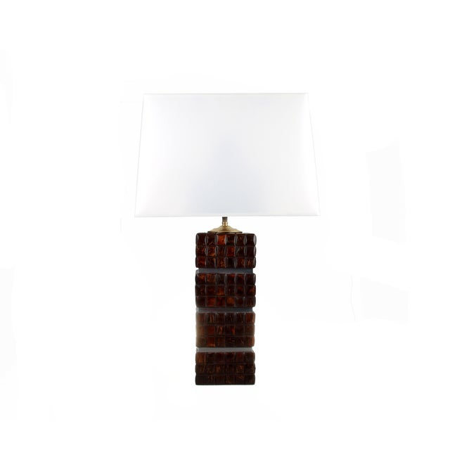 Cubical Wooden Table Lamp - Image 8 of 9