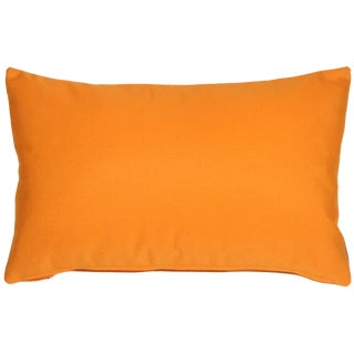 Contemporary Sunbrella Tangerine Orange Outdoor Pillow - 12x19 For Sale